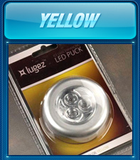 Yellow LED Puck
